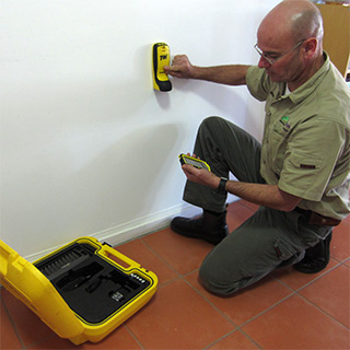 Termite Inspection using thermal and radar equipment
